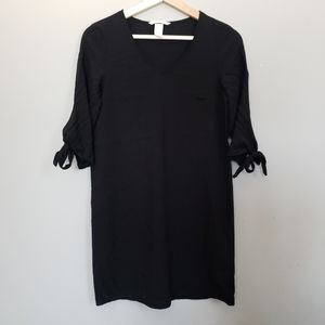 H&M Tie Sleeve Flowy V-Neck Mini Dress
